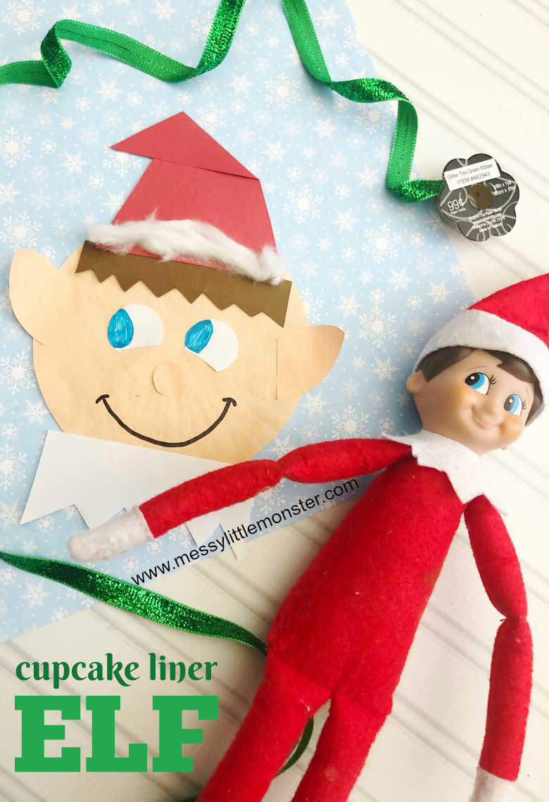 Easy elf craft for kids. Elf on the shelf craft. Christmas crafts for kids.
