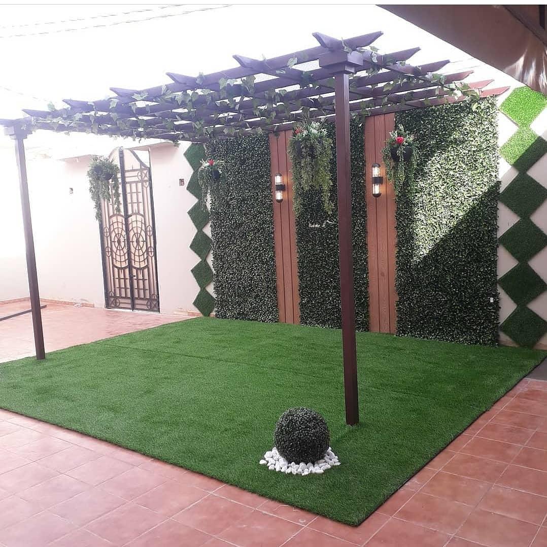 شركة تنسيق حدائق تركيب عشب صناعي تصميم مظلات وسواتر بالقصيم