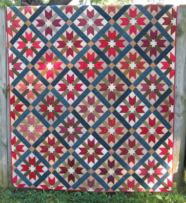 quilt with Sister's Choice block variation