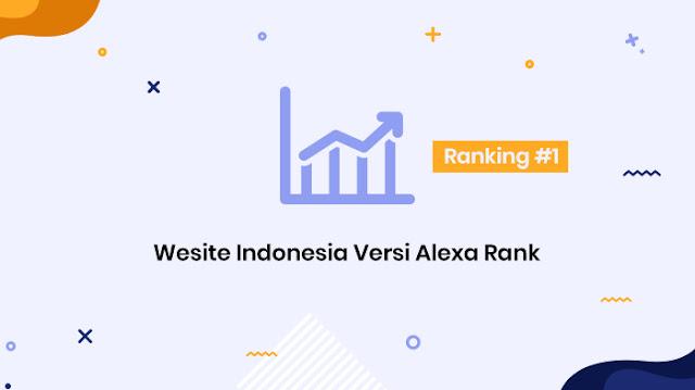 website indonesia populer dan terbaik versi alexa rank