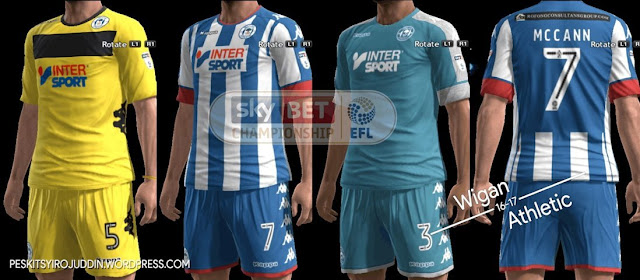 PES 2013 Wigan Kit Season 2016-2017