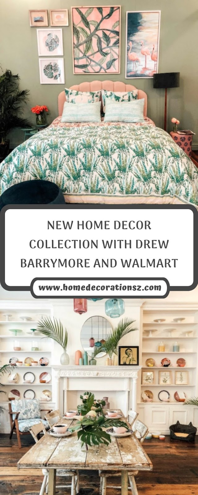 NEW HOME DECOR COLLECTION WITH DREW BARRYMORE AND WALMART