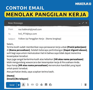 Contoh Email Menolak Panggilan Kerja
