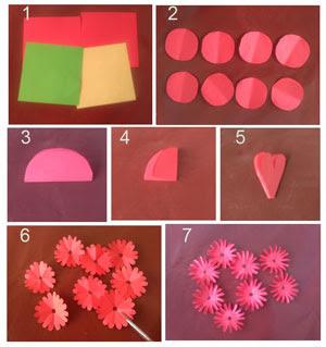 Tutorial membuat bunga dahlia yang cantik dari kertas origami