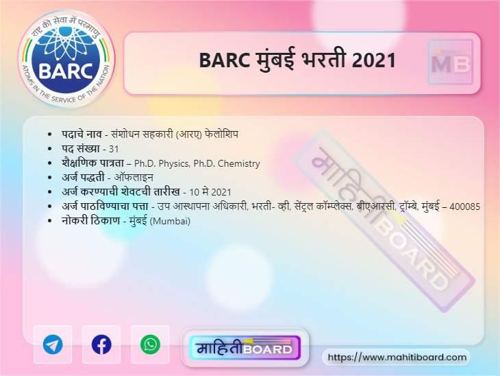 BARC Bharti 2021