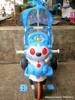 Sepeda Roda Tiga Kid Love Kucing Safety Bar dengan Penahan Ekstra