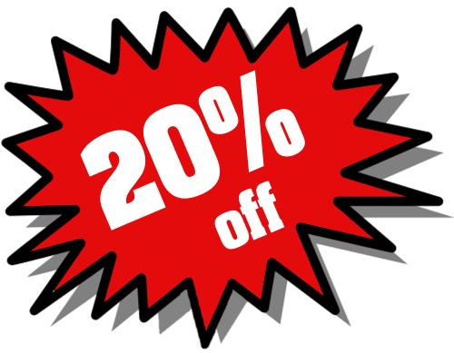 20% Black Friday & Winter Holidays DISCOUNTS