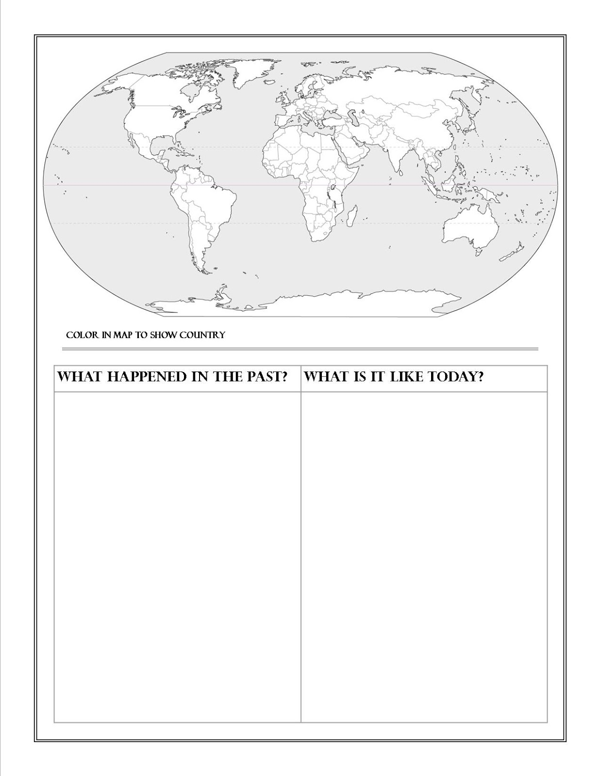 Geography Country Report Printable