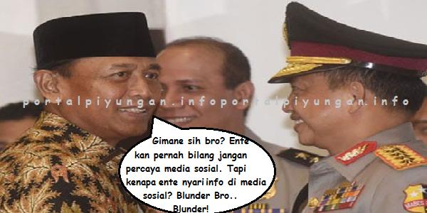 BLUNDER dan PANIK! Tito: Jangan Mudah Percaya Informasi di Media Sosial, Wiranto: Kapolri Jaring Info Makar Dari Media Sosial
