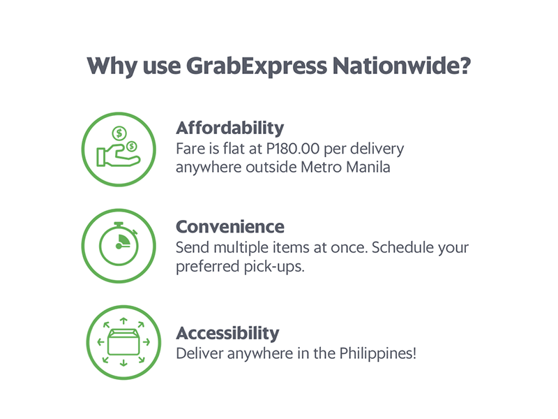 Grab announces nationwide delivery in the Philippines, flat fare of PHP 180!