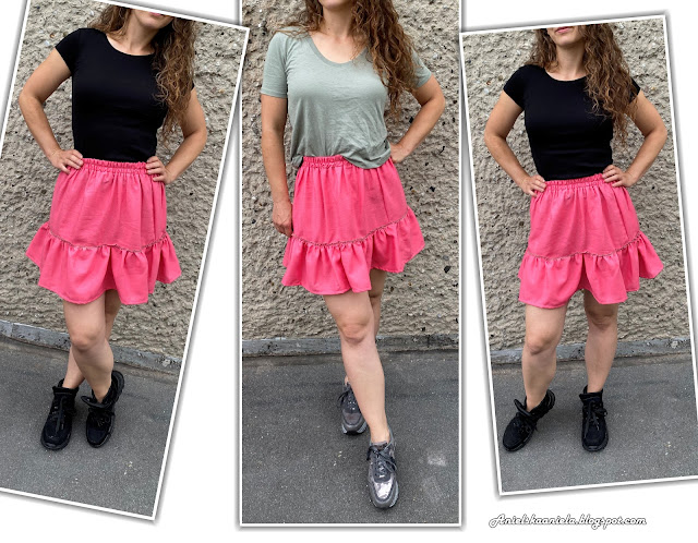 diy tiered ruffle skirt | pants refashion