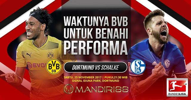 Prediksi Bola : Borussia Dortmund Vs Schalke04 , Sabtu 25 November 2017 Pukul 21.30 WIB