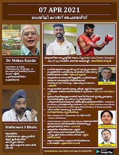Daily Malayalam Current Affairs 07 Apr 2021