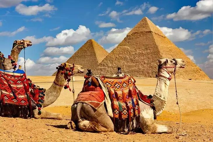 Ancient Egyptian Giza Pyramids