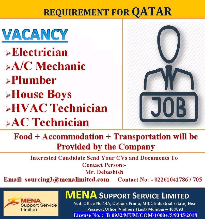 Gulf Walkin: MEP - Maintenance Jobs Required For _ Qatar