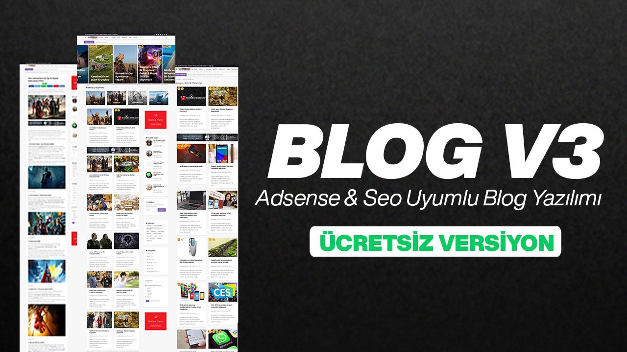 Ücretsiz Blog Scripti - Adsense & Seo Uyumlu PageSpeed %98