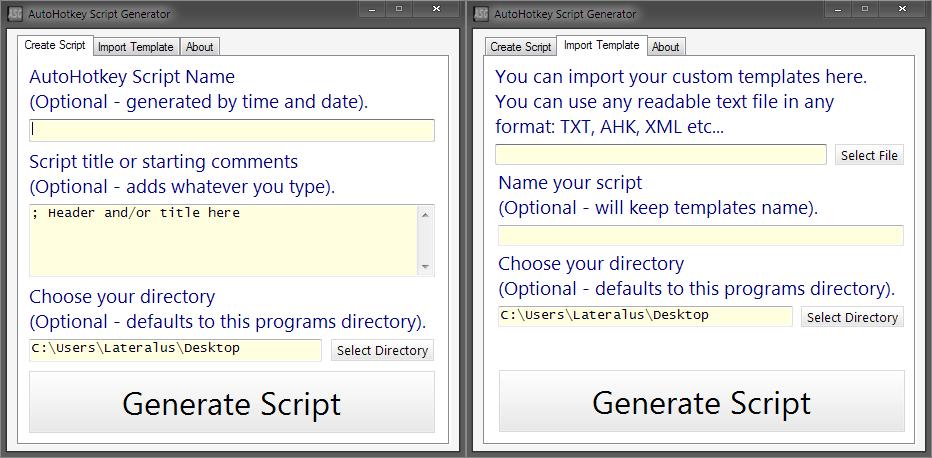AHK Script Generator - AutoHotkey Community