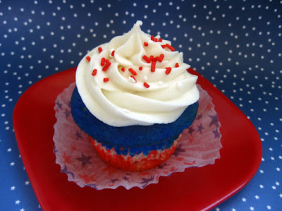 Red, White, and Blue Cupcakes Recipe