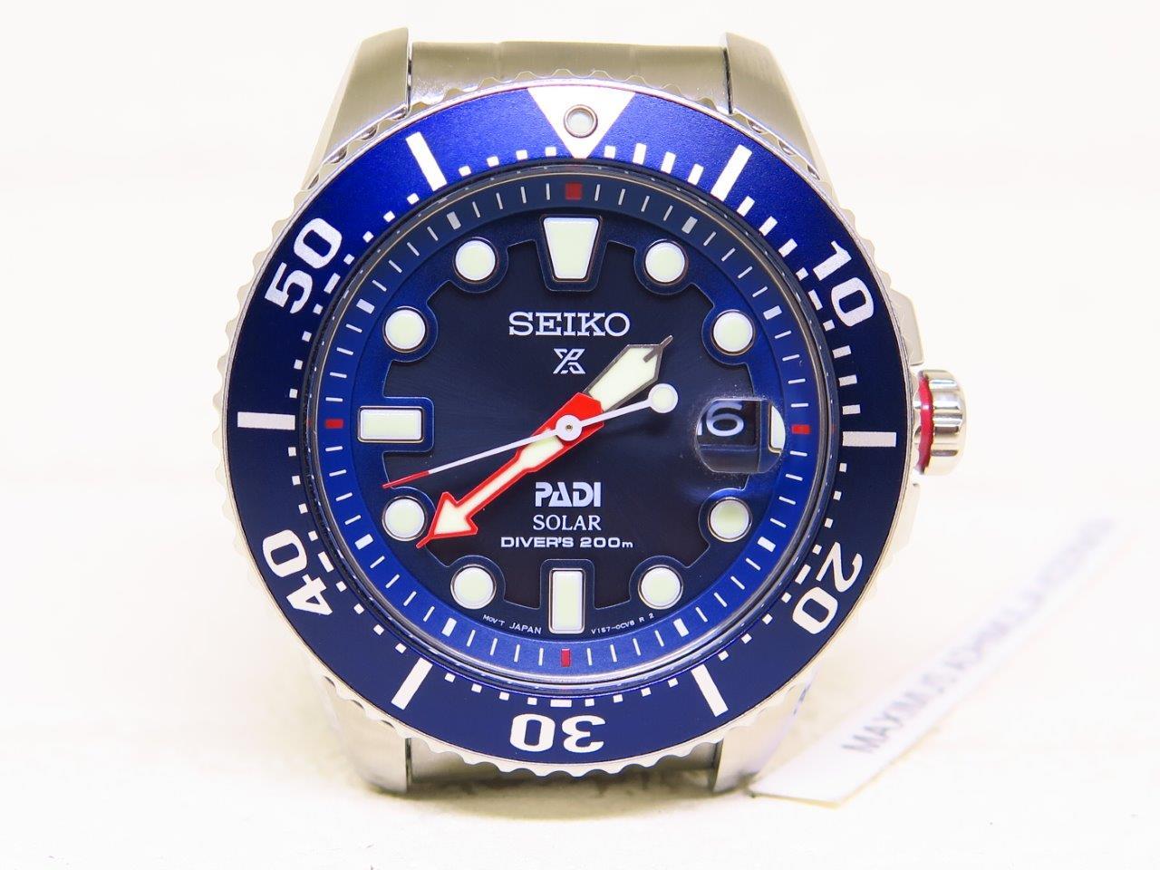 SEIKO DIVER 200m PADI SOLAR BLUE DIAL - SEIKO SNE435P1