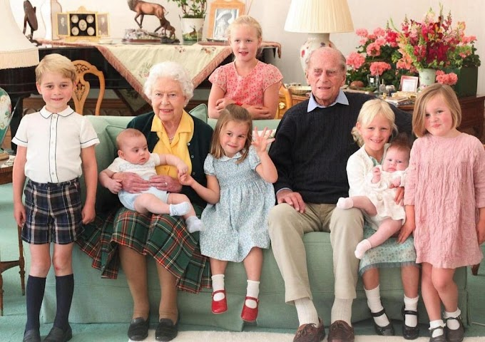 Különleges fotót posztolt a palota Fülöp hercegről és hét dédunokájáról
