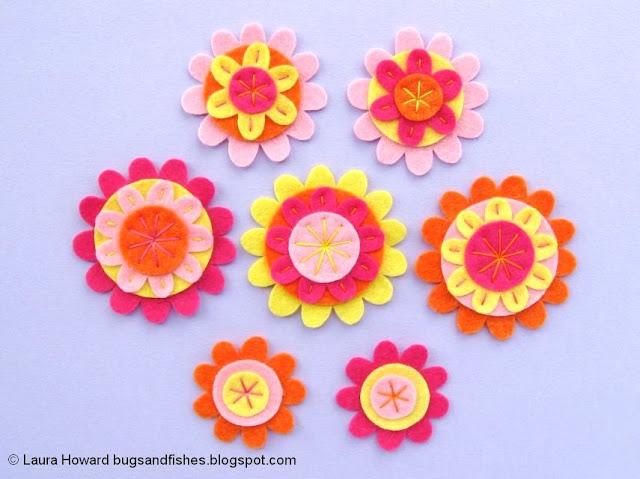 Felt Flower Crown Sewing Tutorial: decorate the flowers