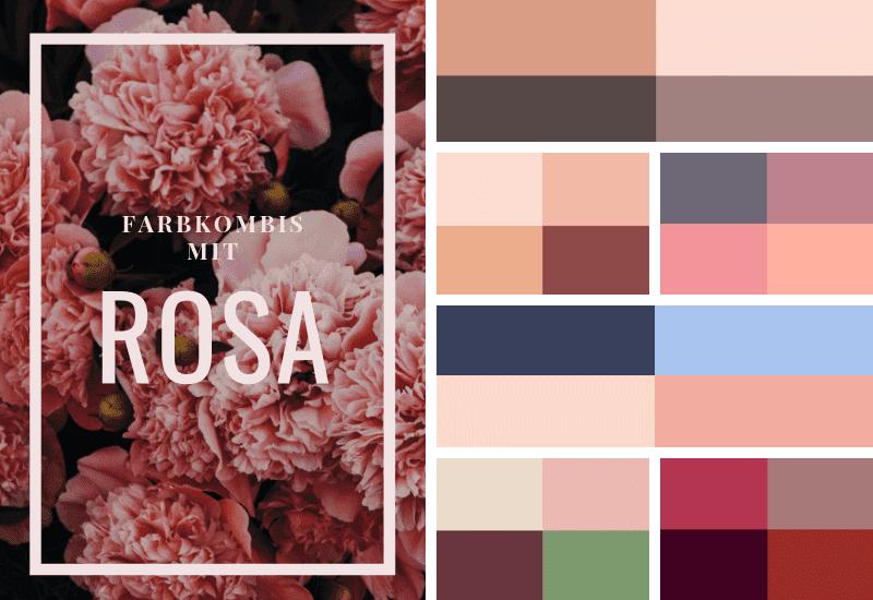 Rosa-kombinieren-Farbschema-gedeckte-Farben