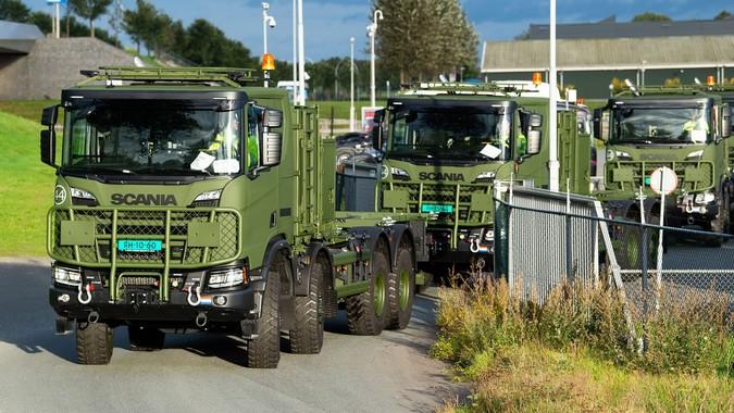 Scania fornecerá 2.847 caminhões para o Exército Holandês