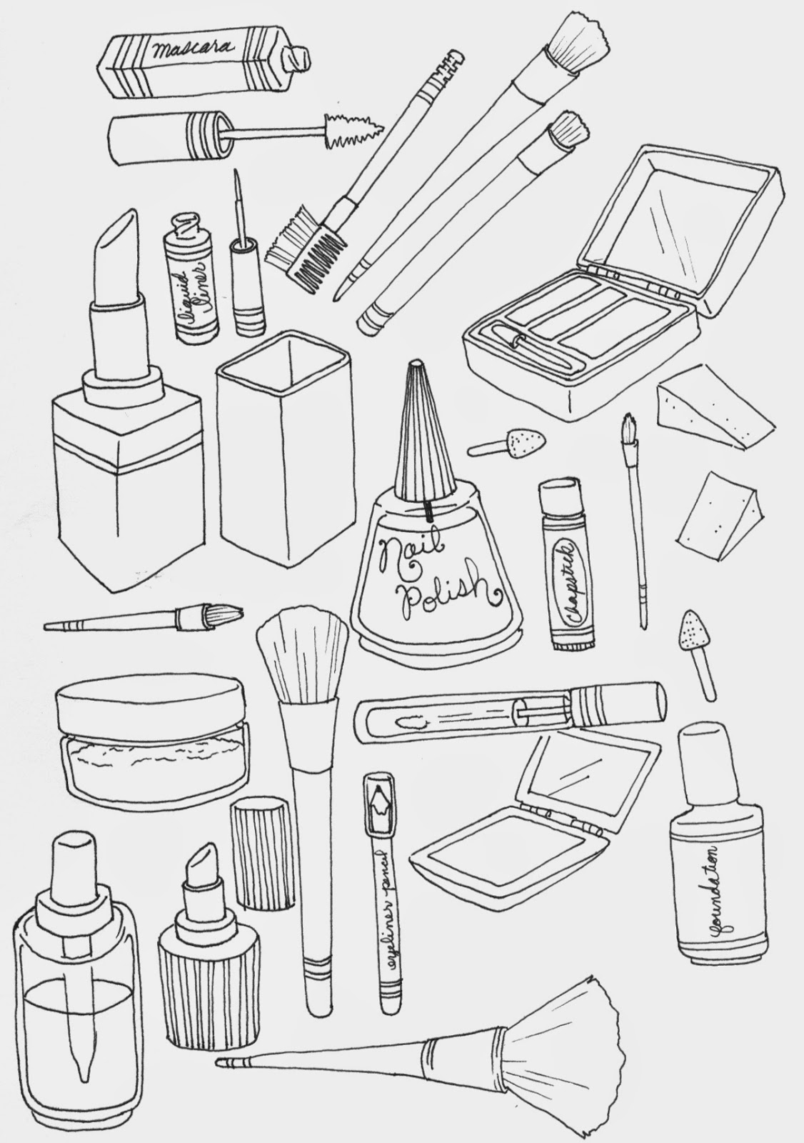 Make Up Bag Coloring Pages Coloring Pages