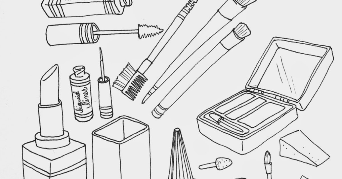 The Spinsterhood Diaries: Wednesday Fun: Makeup Coloring Page