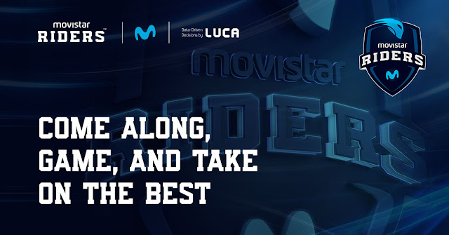 Promotional image for the LUCA event in collaboration with Movistar Riders.