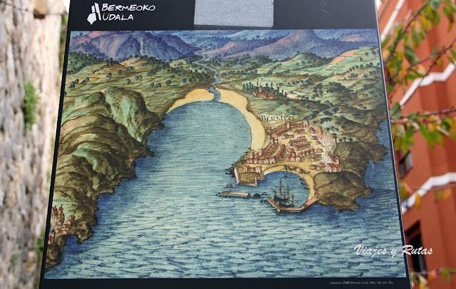 Mapa de la edad media de Bermeo