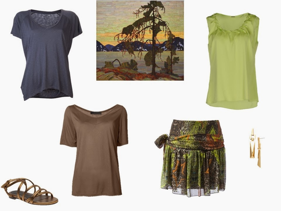 four warm summer garments from Jackpine by Tom Thompson