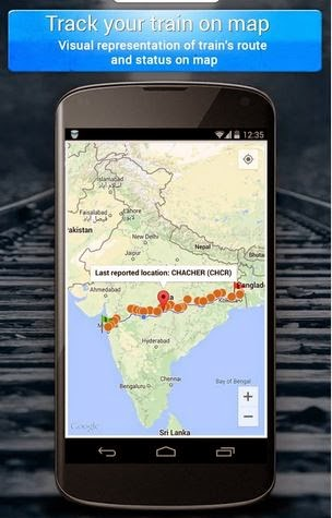 track your train on map now