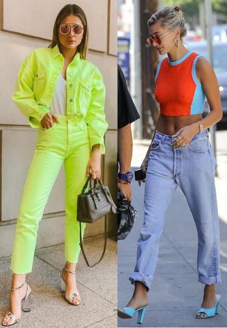 Guia: Como usar Looks Coloridos 2019, Thássia Naves, Hailey Bieber
