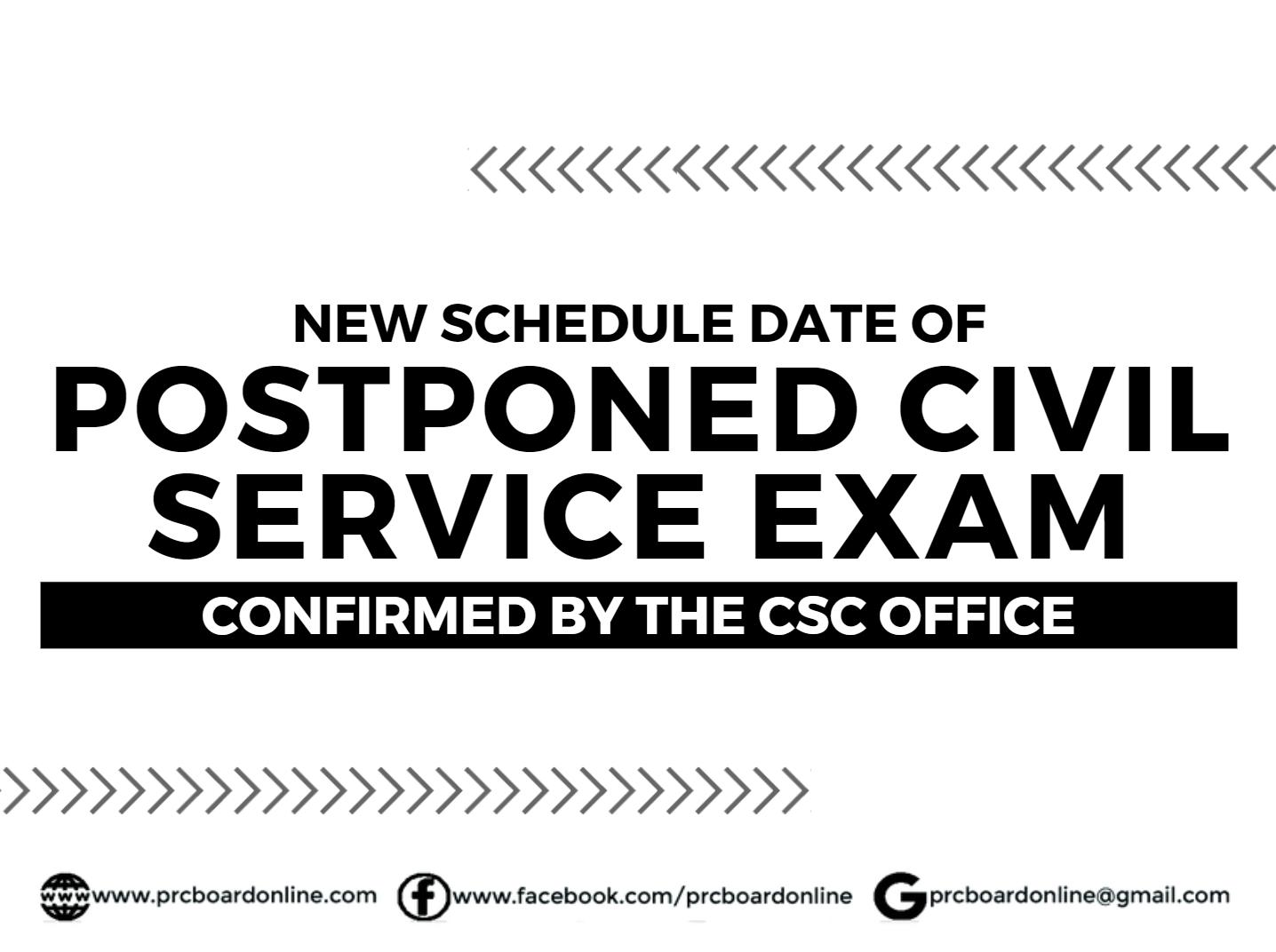 New Schedule Date of Postponed Civil/Career Service Exam