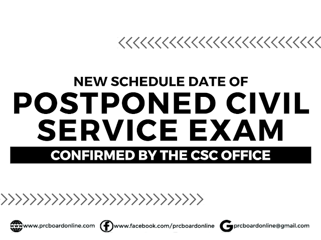 New Schedule Date of Postponed Civil/Career Service Exam