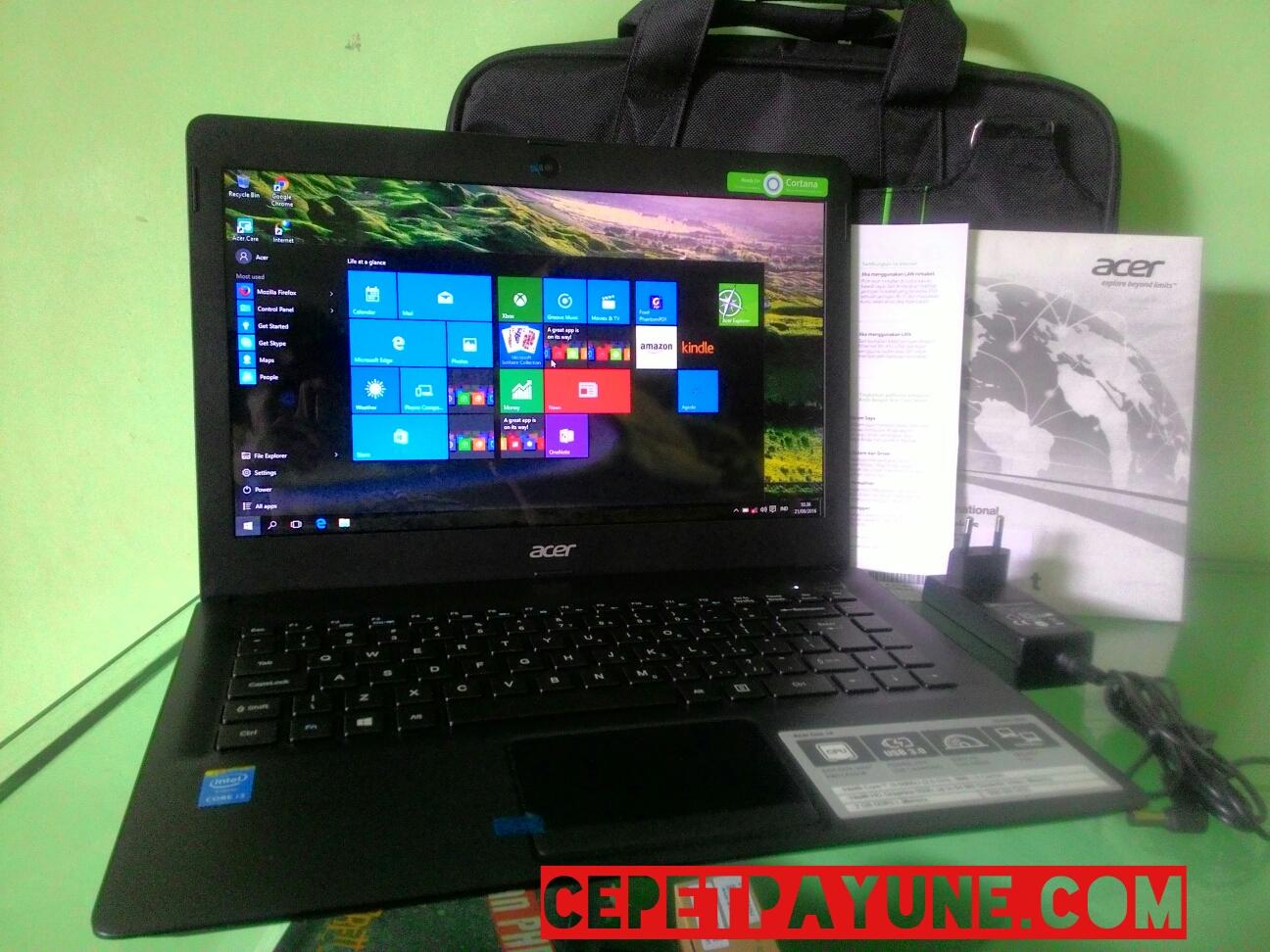 3 Bulan Pakai ACER ONE 14 Intel Core I3 5005U Brodwell