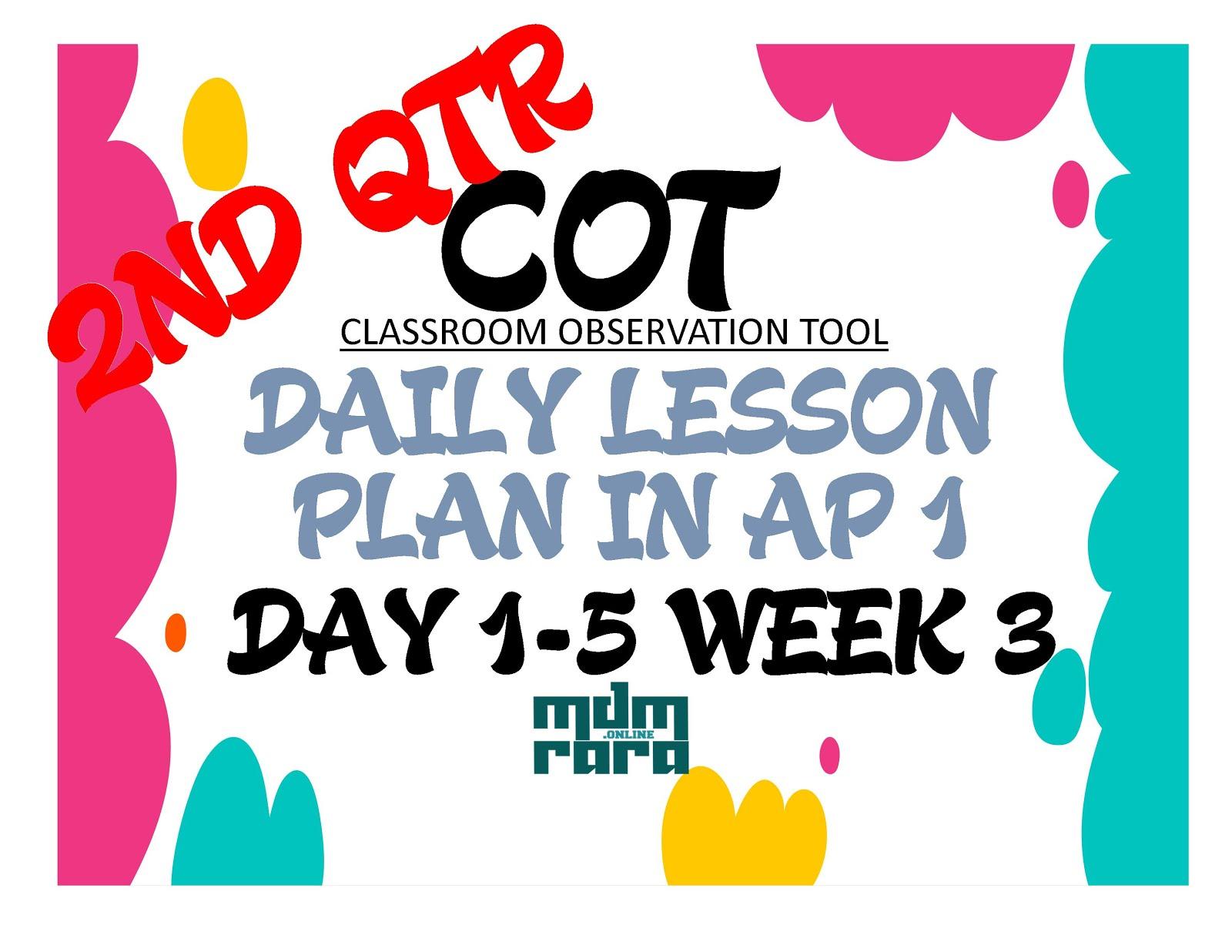 Week 3 Cot Dlp In Araling Panlipunan 1 2nd Quarter
