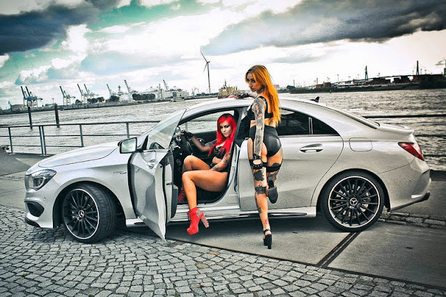 Mercedes Benz CLA45 AMG và hai người đẹp cá tính 04