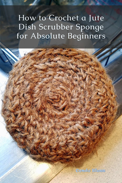 how to crochet a plastic free pot scrubber sponge