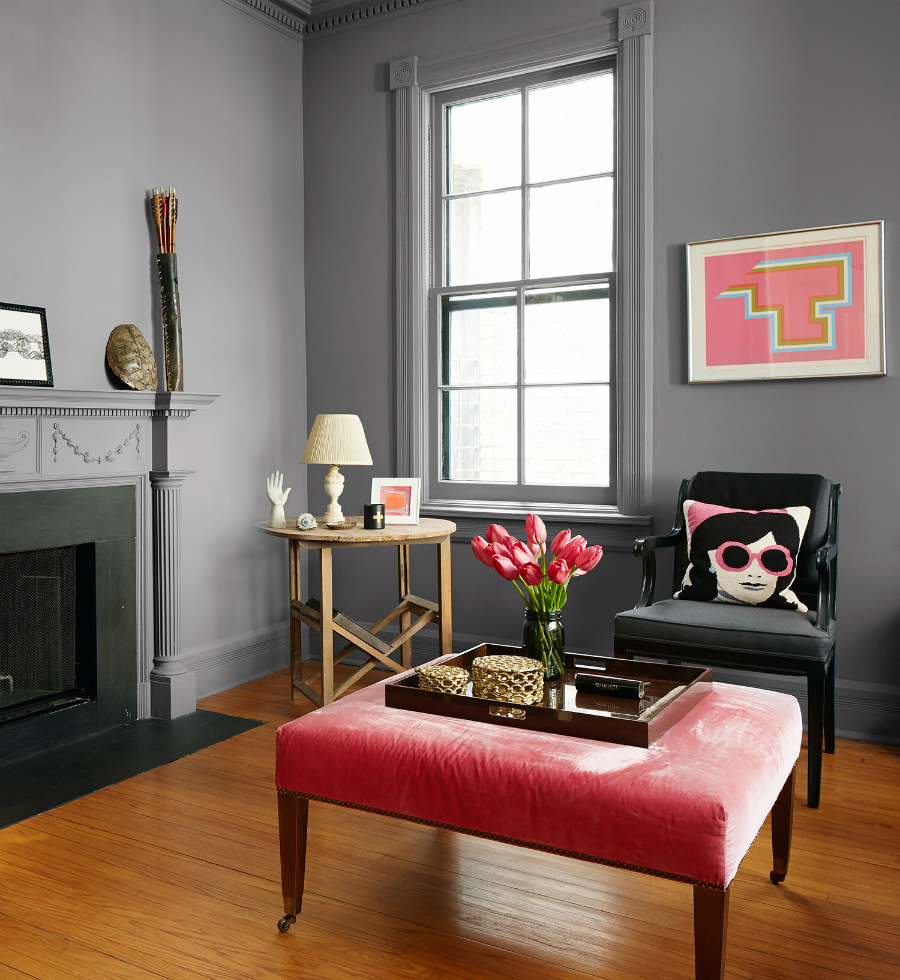 The well appointed catwalk valspar 39 s 2016 color trends - Grey paint living room ...
