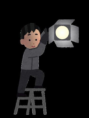 照明スタッフのイラスト(テレビ)