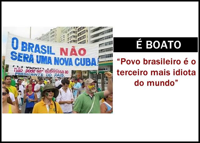 Brasil é o terceiro país mais idiota do mundo?