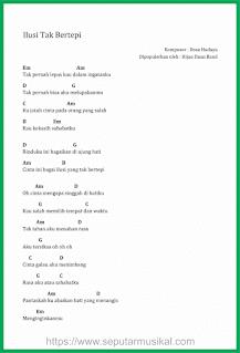 chord lagu ilusi tak bertepi band hijau daun