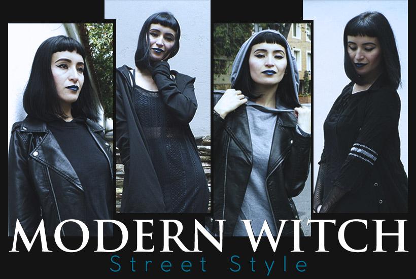 Recreando moda en la calle al estilo de bruja moderna