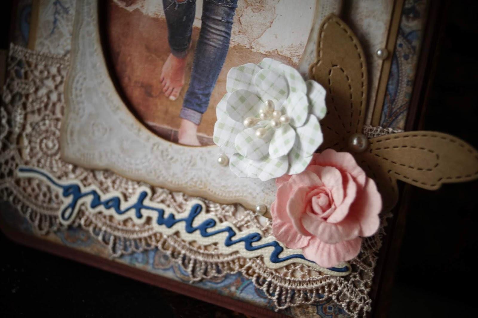 4a56c1bced5a Jeg har brukt dies fra Papirdesign og Memory Box. Tekststempelet er fra  Kort og godt og jeg har pyntet med halvperler og blomster fra Prima.