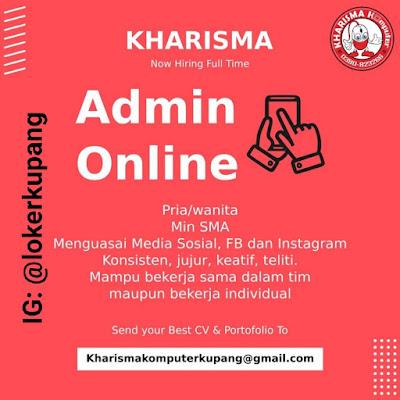 Lowongan Kerja Kharisma Komputer Sebagai Admin Online