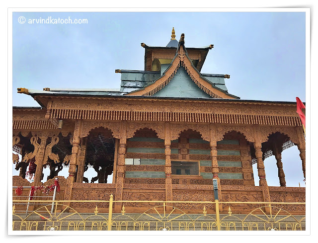Beautiful wooden stone crafted Hatu Mata Temple, Narkanda