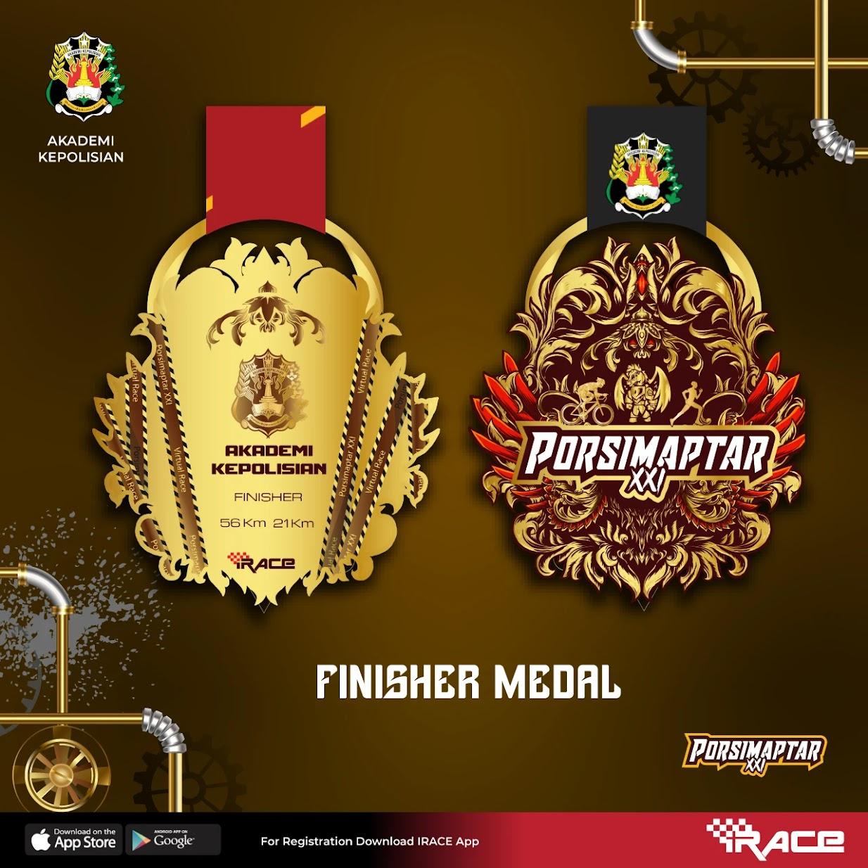 Medali � Porsimaptar Virtual Run XXI • 2021