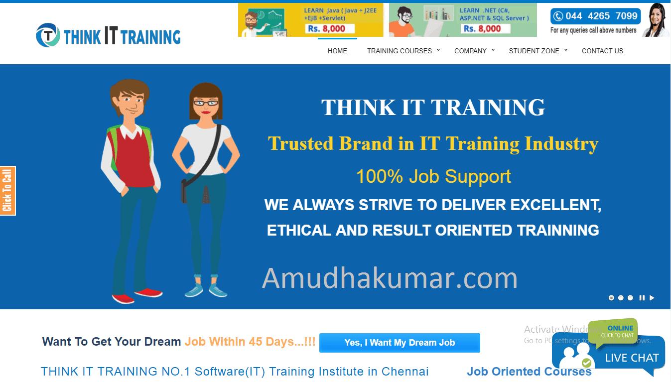 Think IT Digital Marketing Training Institute in Chennai Amudhakumar